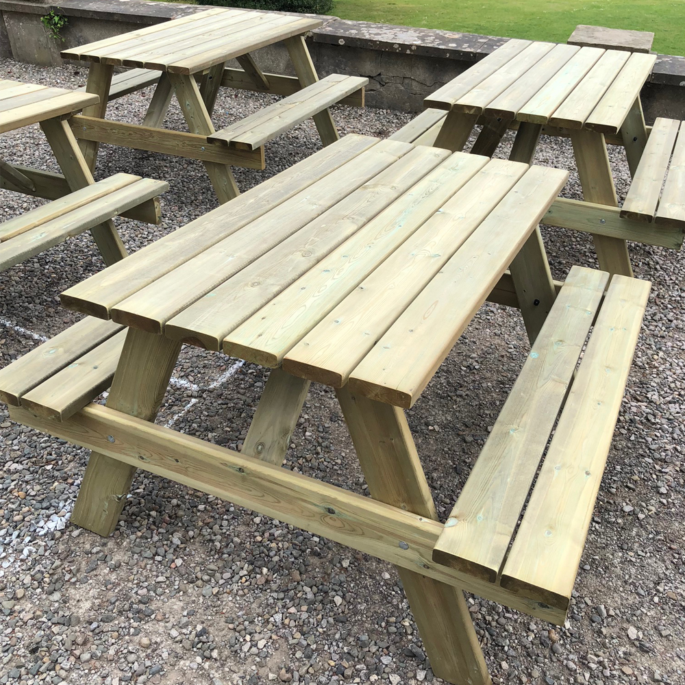 Hampshire 6 Seater Picnic Table Traditional Picnic Bench